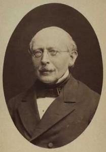Portræt af den første formand for Folketinget, C. G. Andræ