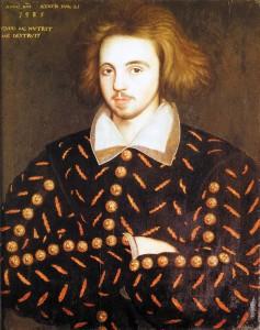 Portræt af ung mand, formentlig forestillende Christopher Marlowe - var han Shakespeares Ghost?